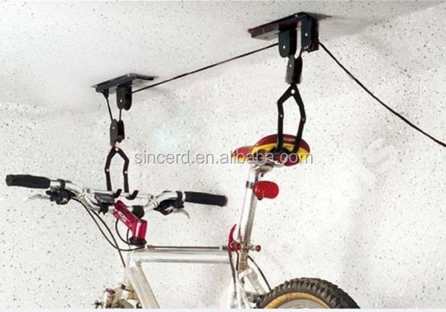 Ceiling BIKE HOIST STORAGE Lift Hang Cycle Bicycle Garage Shed Mount Pulley Rack