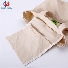 100 cotton canvas cheap shopping bag with inner pocket