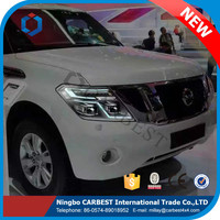 High Quality Hid With Light Guide Head lamp With Led for Nissan Patrol Y61 Y62 2014