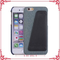 2016 cool cowboy material cell phone pc plastic case housing cover for iphone 6