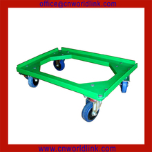 With 4 Wheels Cart Plastic Moving Tray