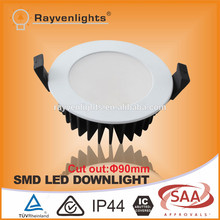 Australia Standard SAA/C-tick proved 10W Dimmable LED Downlight Cutout 90mm