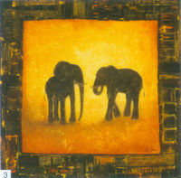 Pure hand-painted high quality oil painting abstract animal elephant oil painting