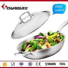Nonstick Dishwasher Safe Oven Safe Stainless Steel Wok Cookware