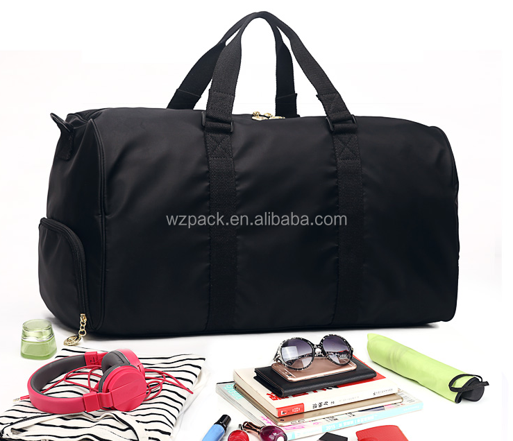 2016 OEM Foldable Bag Business Trip Durable Sports Gym Duffle Bag Portable Traveling Bag