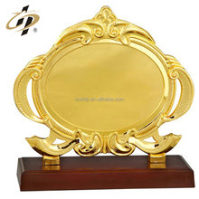 Shuanghua factory supply gold blank metal souvenir plate for wholesale