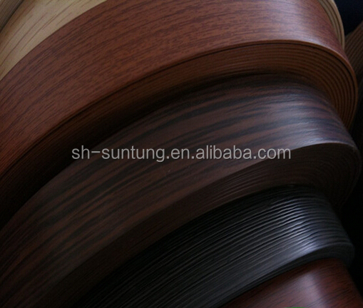 popular 2mm pvc edge banding wengue color pvc edge banding