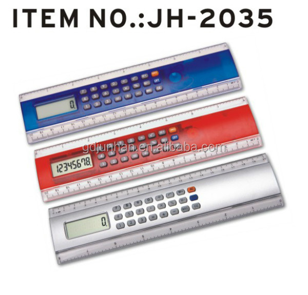 Promotional Multi-functional 8 Digits Ruler Calculator with magnifier