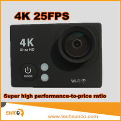 Cheap 4K Action Camera 25fps wifi sports action camera xdv video cam helmet mounting