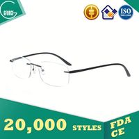 Eyeglasses, bamboo optical frames, low price plastic 3d glasses