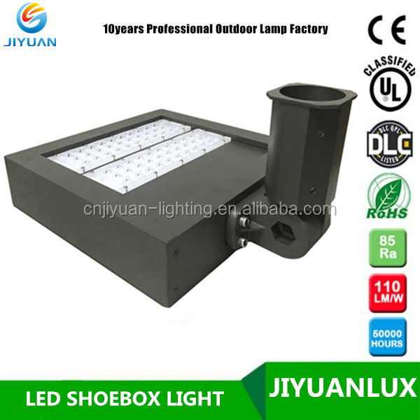 JIYUANLUX hot selling with Magnesium alloy housing 90w UL cUL DLC list led high ple parking lot shoebox light