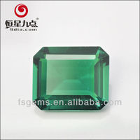 2GC02004A Good Quality with Good Price Per Carat Cushion Cut Hydrothermal Created Colombian Emeralds for Sale