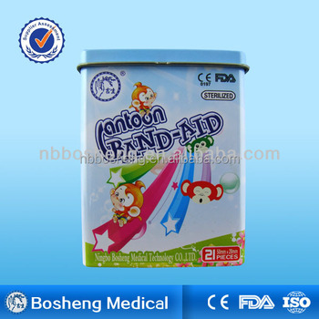 Tin Box Cartoon Waterproof Adhesive strips