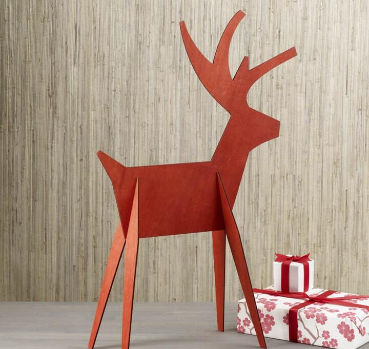 New design deer shape home decoration for christmas