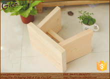 Handmade small wooden fancy stool smooth cheap
