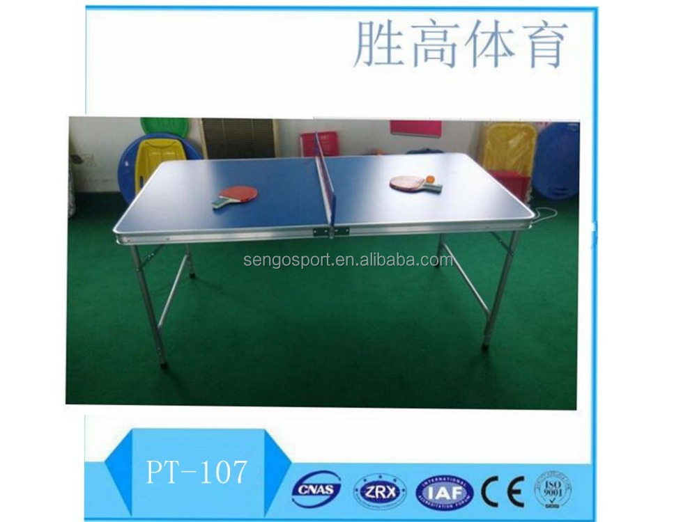 Kid used colourful top new design portable indoor table tennis table