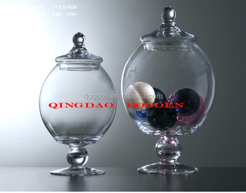 christmas tree fancy sealable glass candy jars, View fancy glass ...