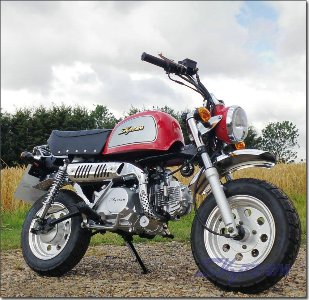 SKYTEAM 125cc 4 stroke mini monkey motorcycle (EEC EUROIV EURO4 APPROVED)