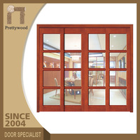 Hotel Oak Solid Wooden Frame Interior Soundproof Balcony French Doors