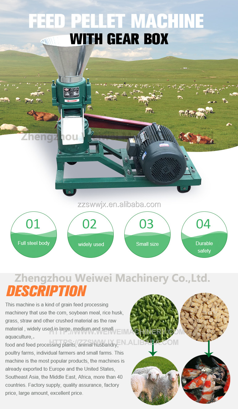 Duck feed processing machine