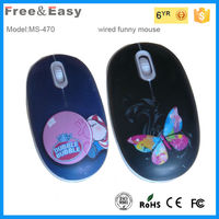 cheap promotional cute anime print wired gift mouse(MS-470) high quality