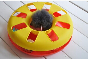 2020 high-quality hot-selling interactive plastic cat toys with ball