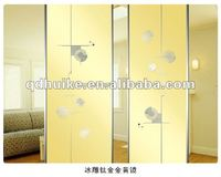 home decorative glass door/glass sliding door/TJ/CJ/BD-bath flower