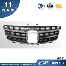 Top Quality ABS Chrome Silver/ Black Front Grill for Mercedes ML350 W164 06-08 From Pouvenda