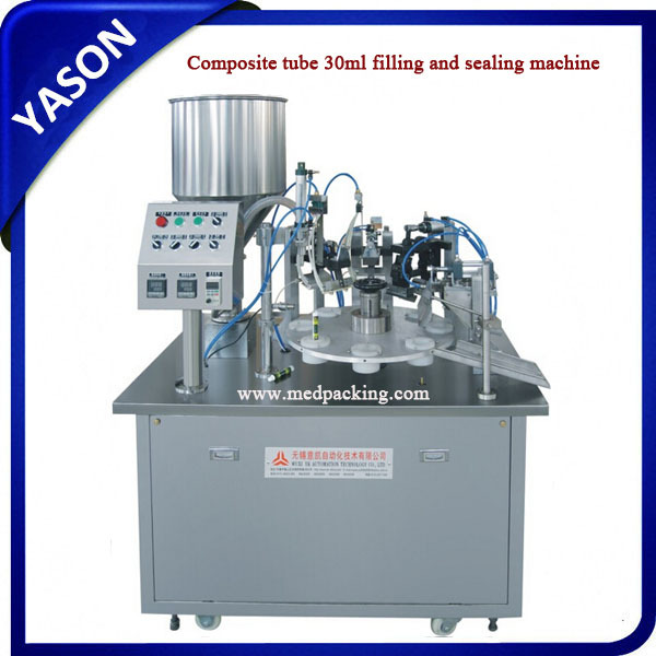 Composite tube filling+ sealing machine automatic tube filing and sealing machine