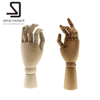 Wood Articulated Hand For Store Fixture Wood Color Dummies Mannequin For Decors