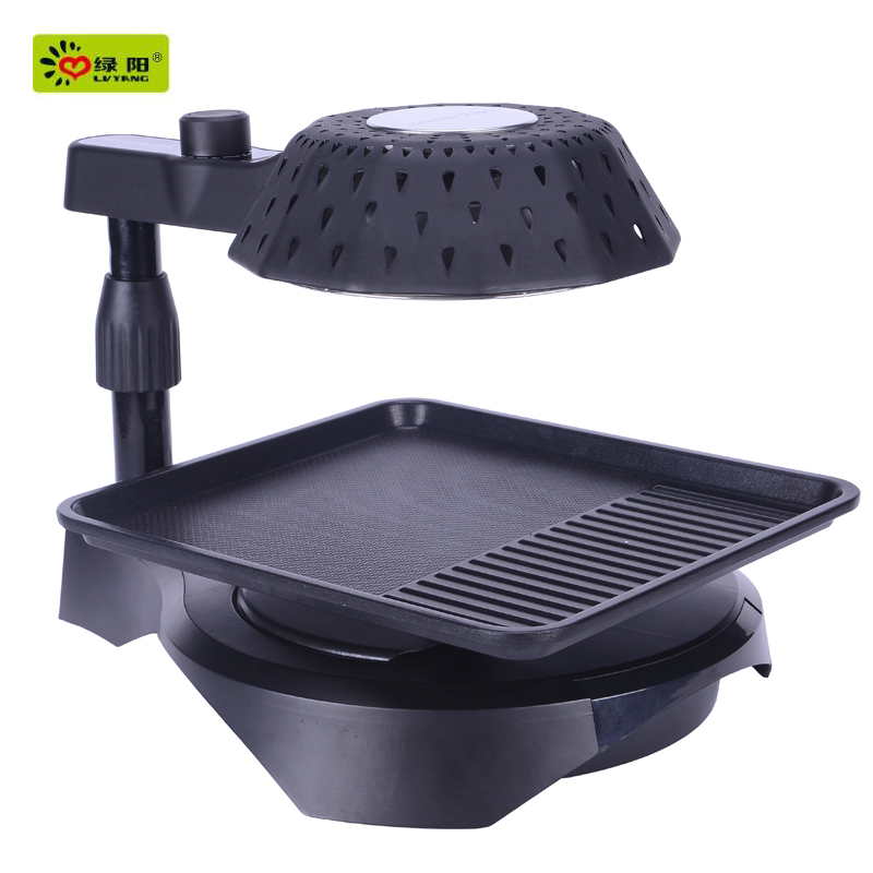 smokeless indoor portable gas bbq barbecue grill sale chicken oven roaster mini pizza non-stick frying pan
