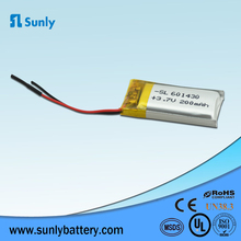 OEM polymer battery cells 3.7v 180mah lithium polymer battery 551430 lipo for game consoles