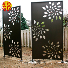 Outdoor garden screens room dividers laser cut metal screens flower wall decor art