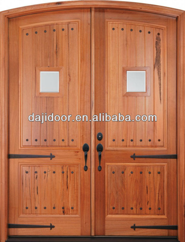 Arch Top Interior Solid Wood Double Doors Design DJ-S8371A