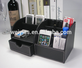 Wholesale Faux leather desk organizer storage box, Desk organizer leather alibaba china