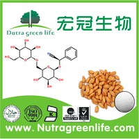 100% Bitter Apricot Extract Amygdalin 98% from GMP Manufacturer