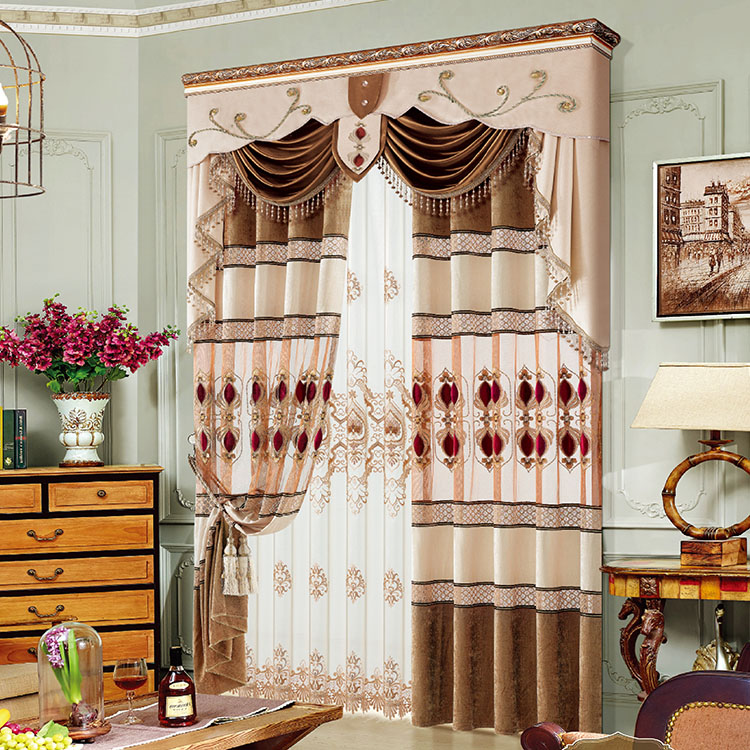 Motorized hotel fireproof blackout arabic curtains for home