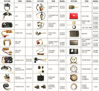 Gasoline generator spare parts for 2KW, 5KW and 168F, 173F, 188F, GX160, GX200, GX240, GX270, GX390, 5.5HP, 6.5HP, 13HP, 15HP