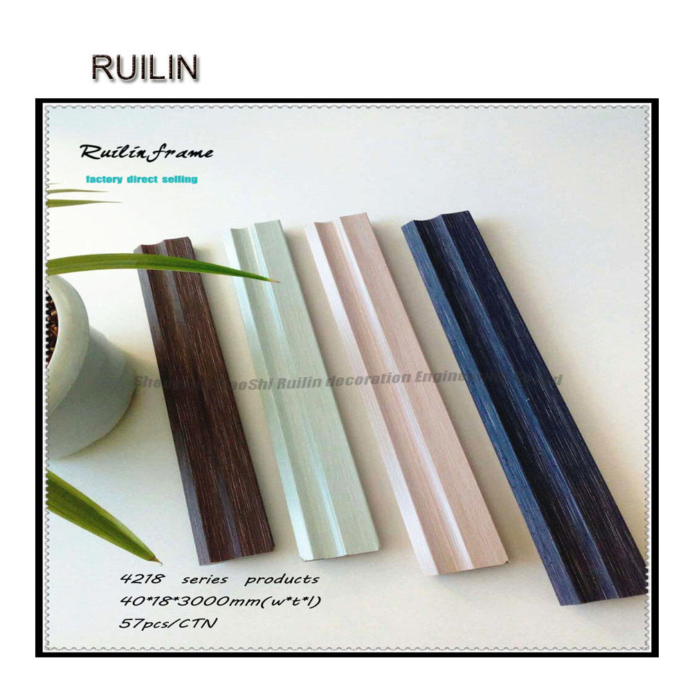 New Design photo frame moulding wood grain type wholesale