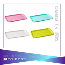 Wholesale Plastic Fast Food Serving Trays/snack plate for restaurant