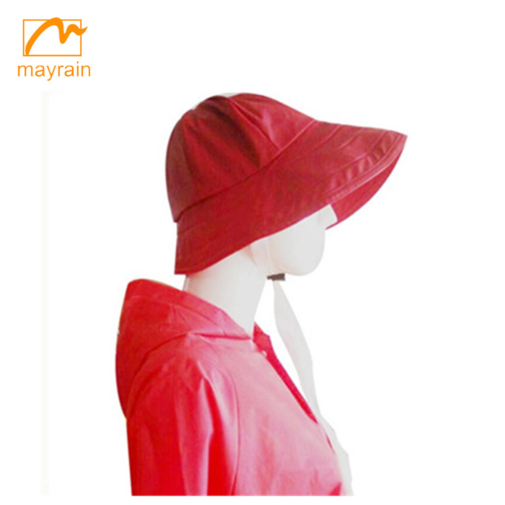 waterproof poly/cotton lined rain hat for fisherman