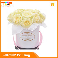 Wholesale Luxury Recycled Custom Free Design Cardboard Packaging Round Flower Box for Gift