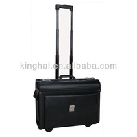 BUSINESS PU TROLLEY PILOT LAPTOP CASE Laptop Briefcase on Wheels Attache Lawyers Case Legal Size