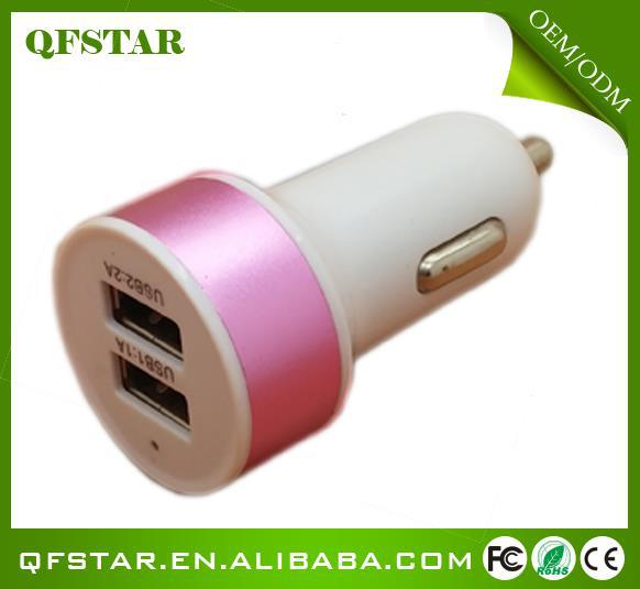 2014 hot selling New passed MFI 2.4a car usb charger set
