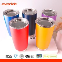 Everich 20oz Giltter Powder Coated Stainless Steel Water Bottle Tumblers