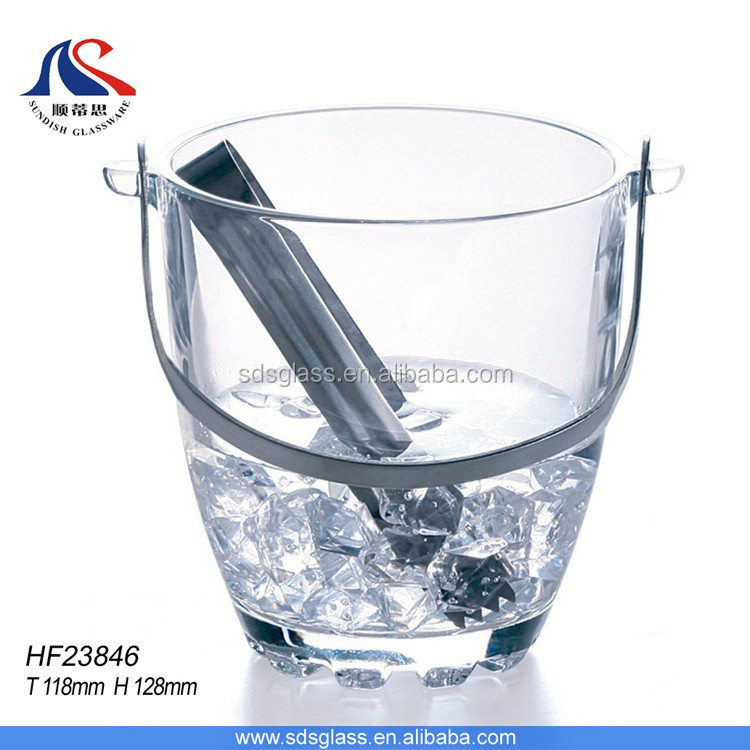 Wine glass ice bucket container glass ice barrel bucket