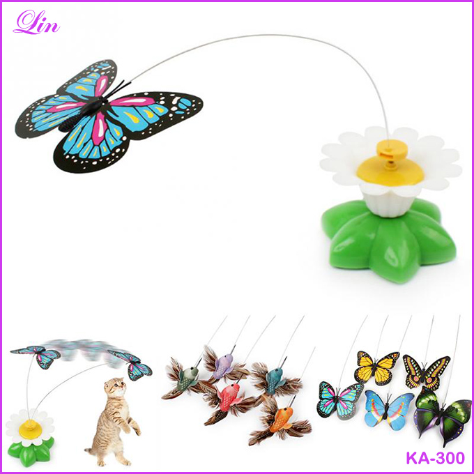 Electric butterfly flying around Bird the flower Cat Pet Toy