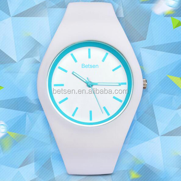 New Arrival BETSEN Brand Women Colorful Jelly Watch Men Silicone Band Quartz Watch 30M Waterproof Sports Watches