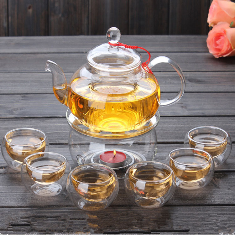 Glass Teapot Sets With 6 Cups And Tray Glass Teapot With Cup Set
