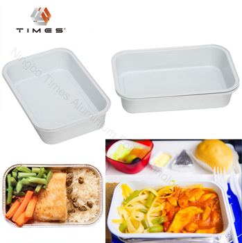 350ml Aluminum foil white food grade coated, airline food container